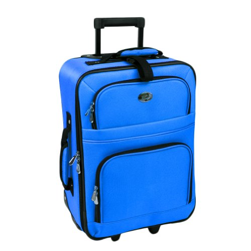 new-royal-blue-travel-carry-on-suitcase-on-wheels-with-extendable-handle